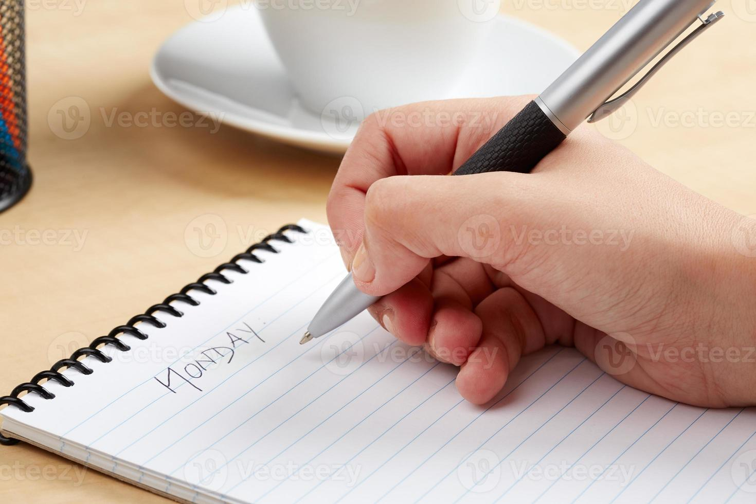 segretaria di scrittura foto