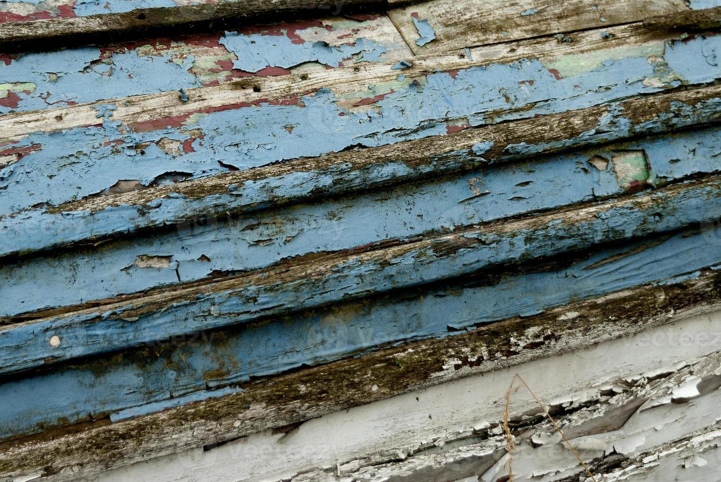dettaglio di barca in legno vecchio foto
