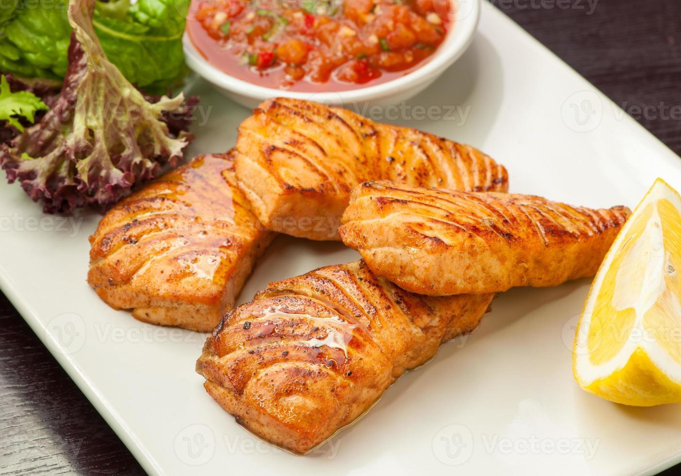 pesce rosso fritto foto
