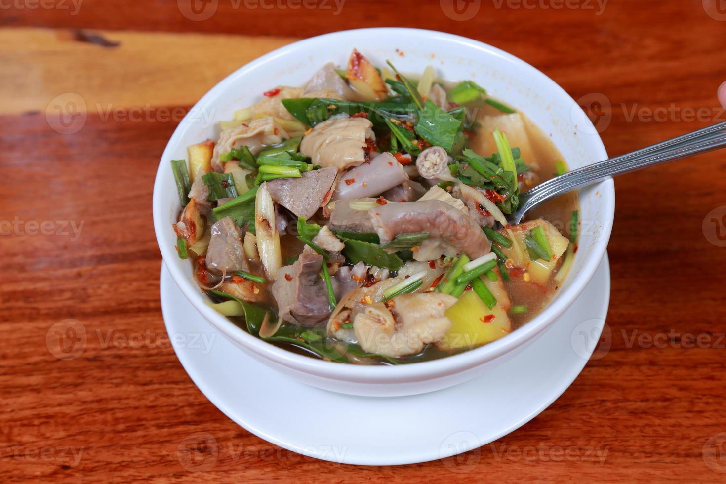 zuppa di maiale piccante foto