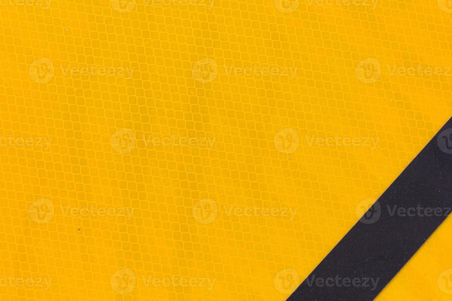 astratto, vicino cartello giallo foto