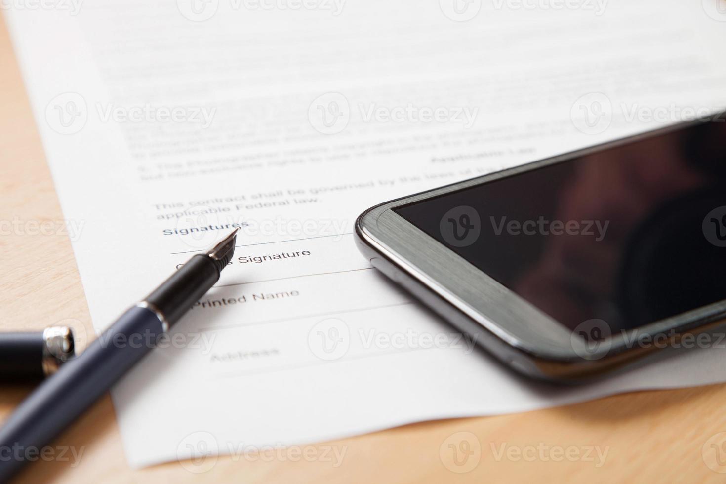forma del contratto foto