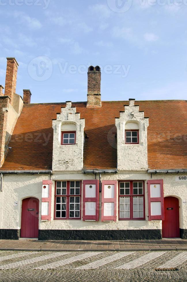 casa storica a Bruges, in Belgio foto