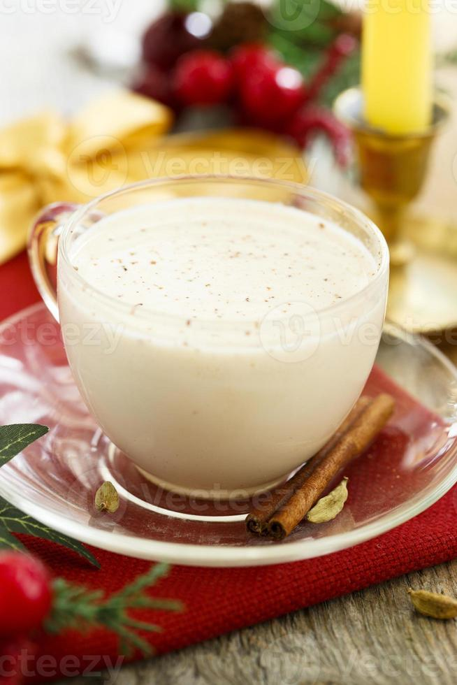bevanda al latte di Natale foto