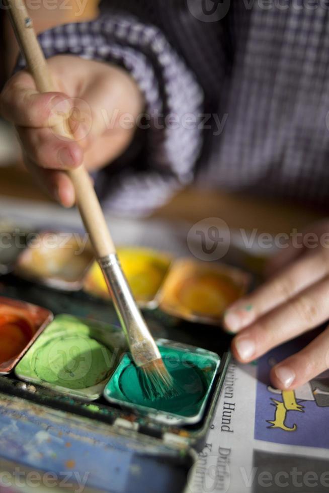dipingilo di verde foto