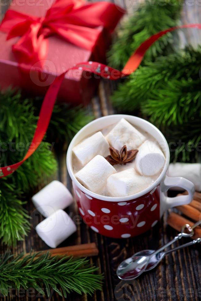 bevanda calda con marshmallow foto