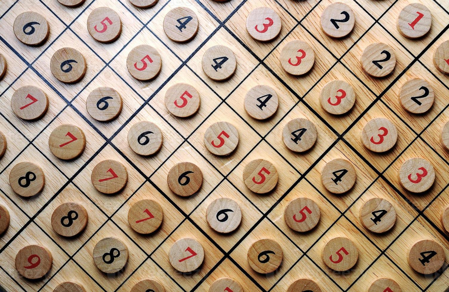 numeri di legno foto
