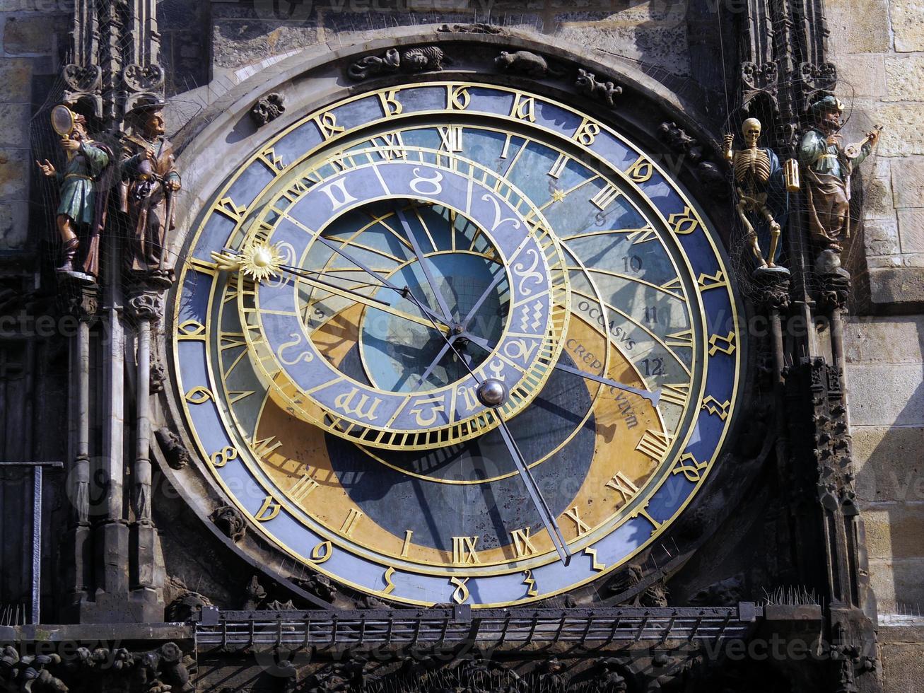 orologio astronomico, centro storico di Praga foto