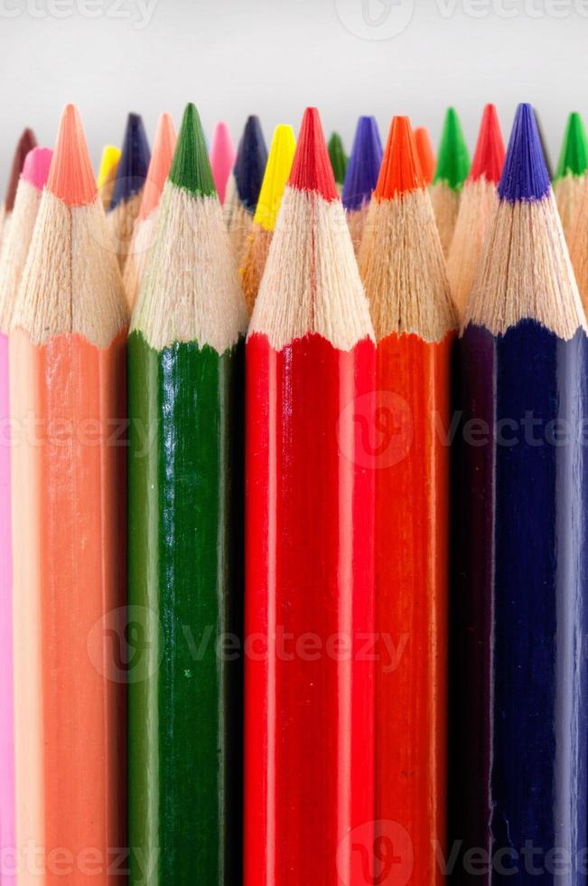 primo piano colorato delle matite foto