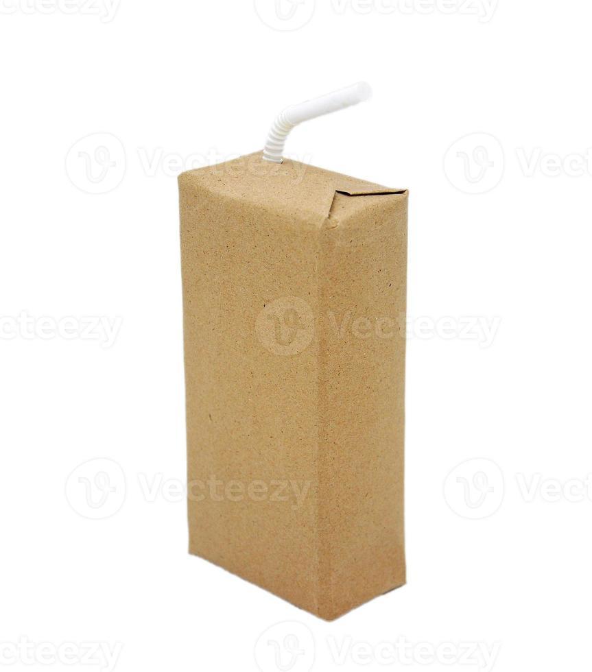 marrone pacchetto di bevande pronto foto