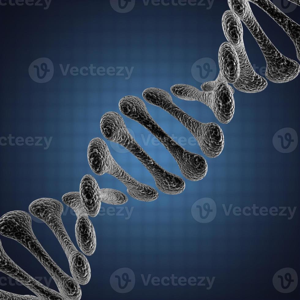 singola illustrazione scientifica del DNA foto
