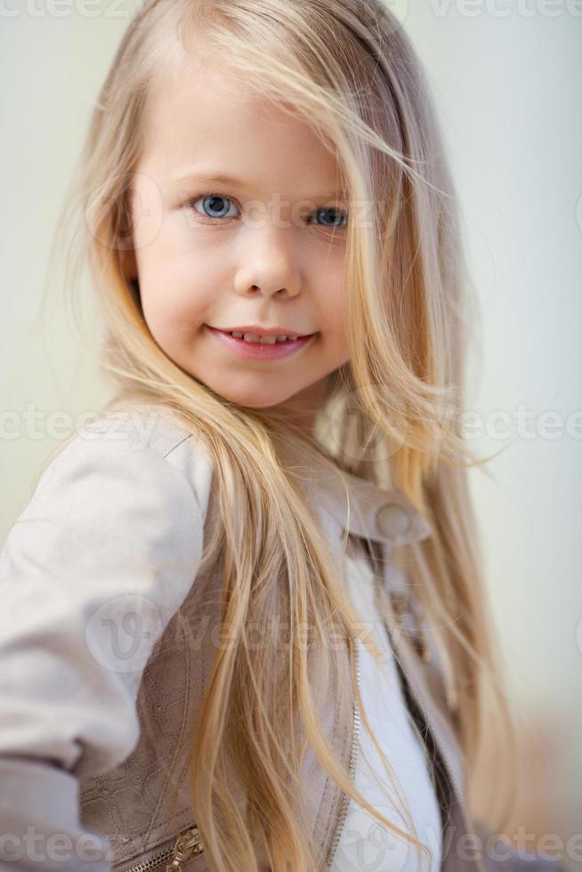 ragazza in età prescolare foto