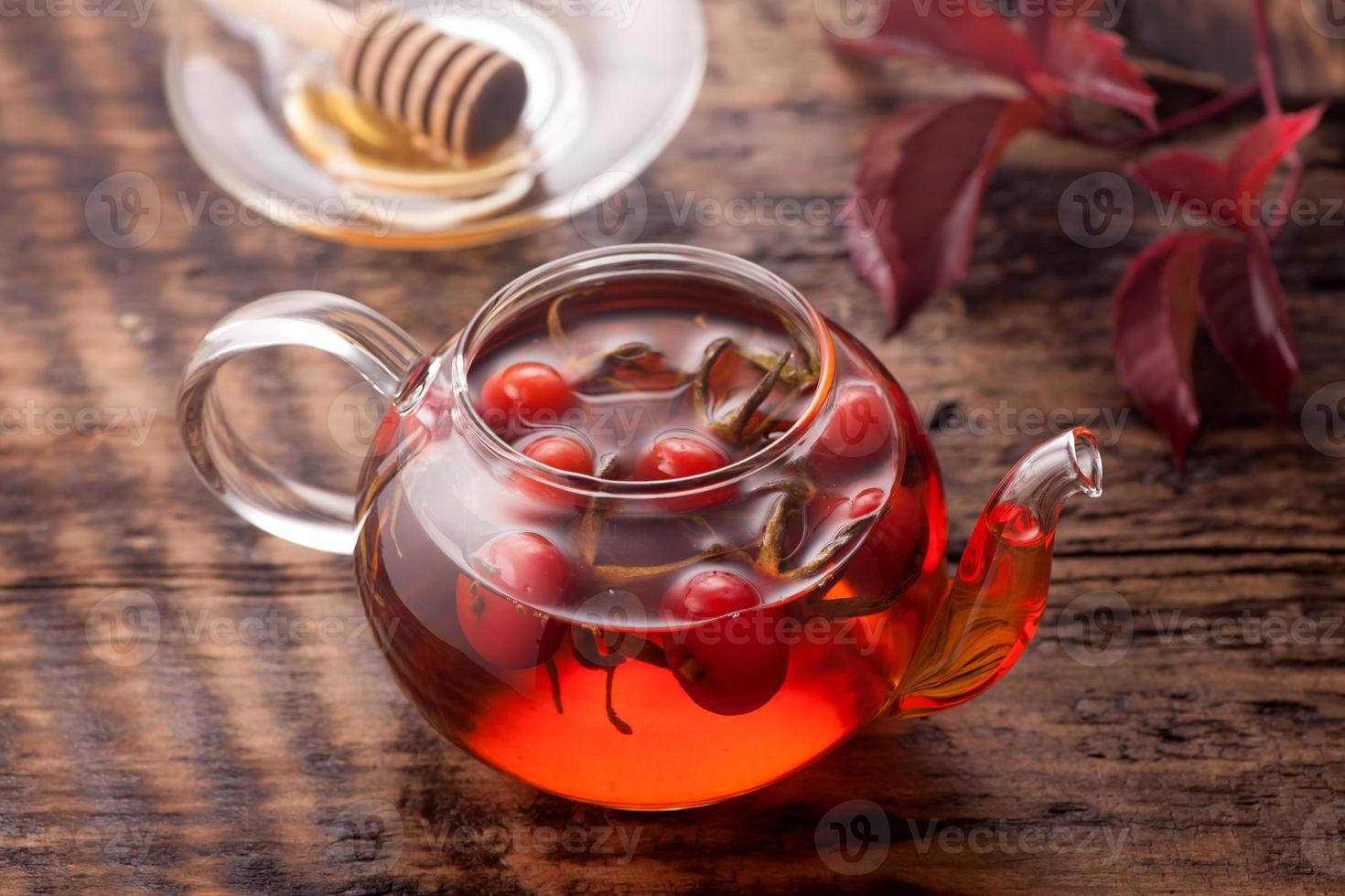 cinorrodo del tè. bevanda vitaminica. foto