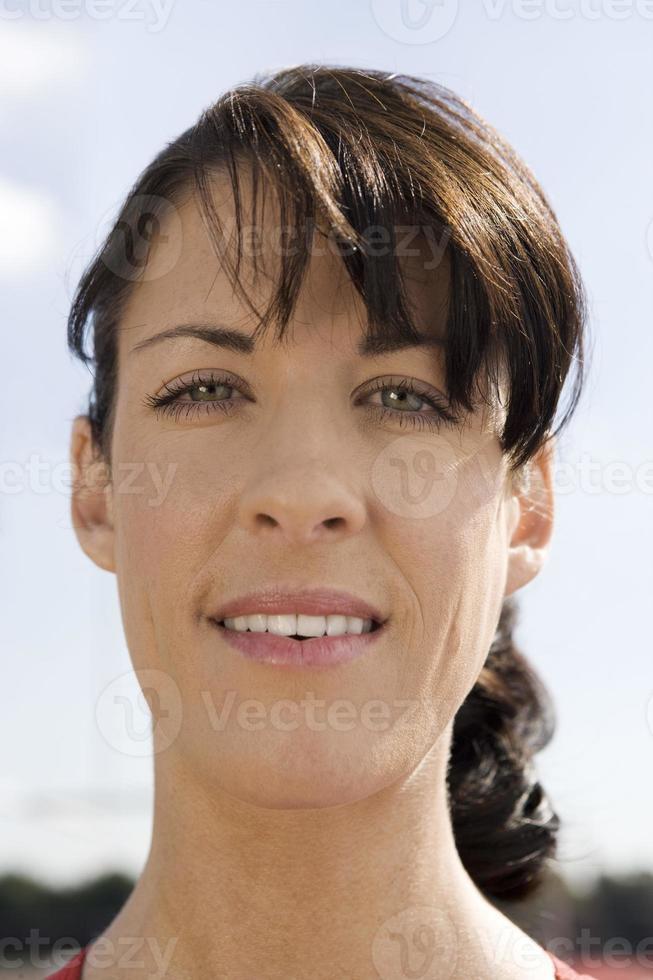 donna che sorride foto