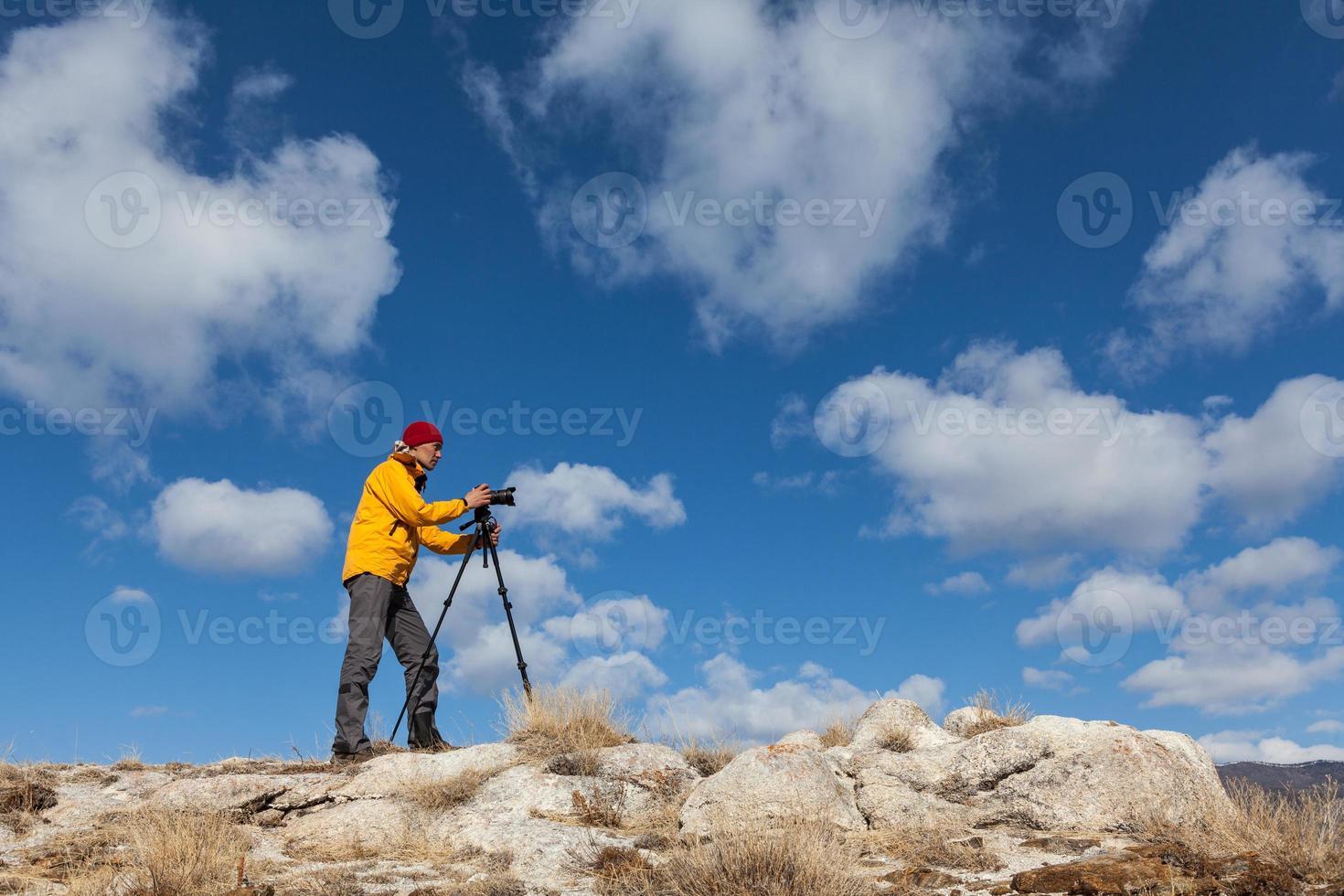 il fotografo sta scattando una foto