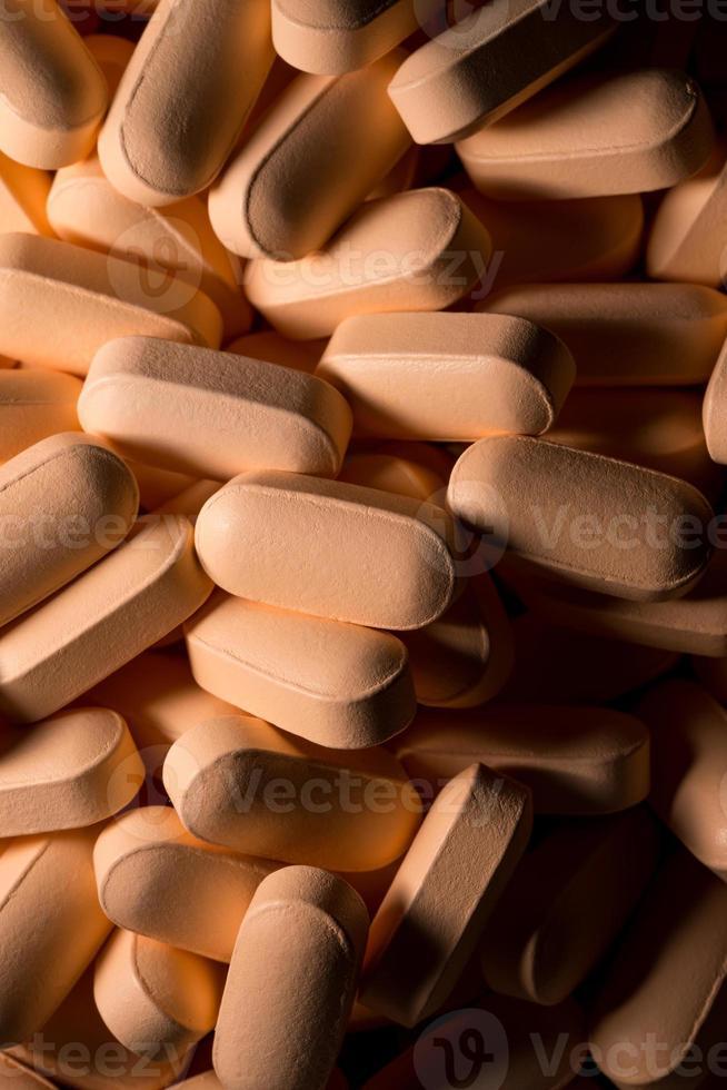 vista di pillole colorate foto