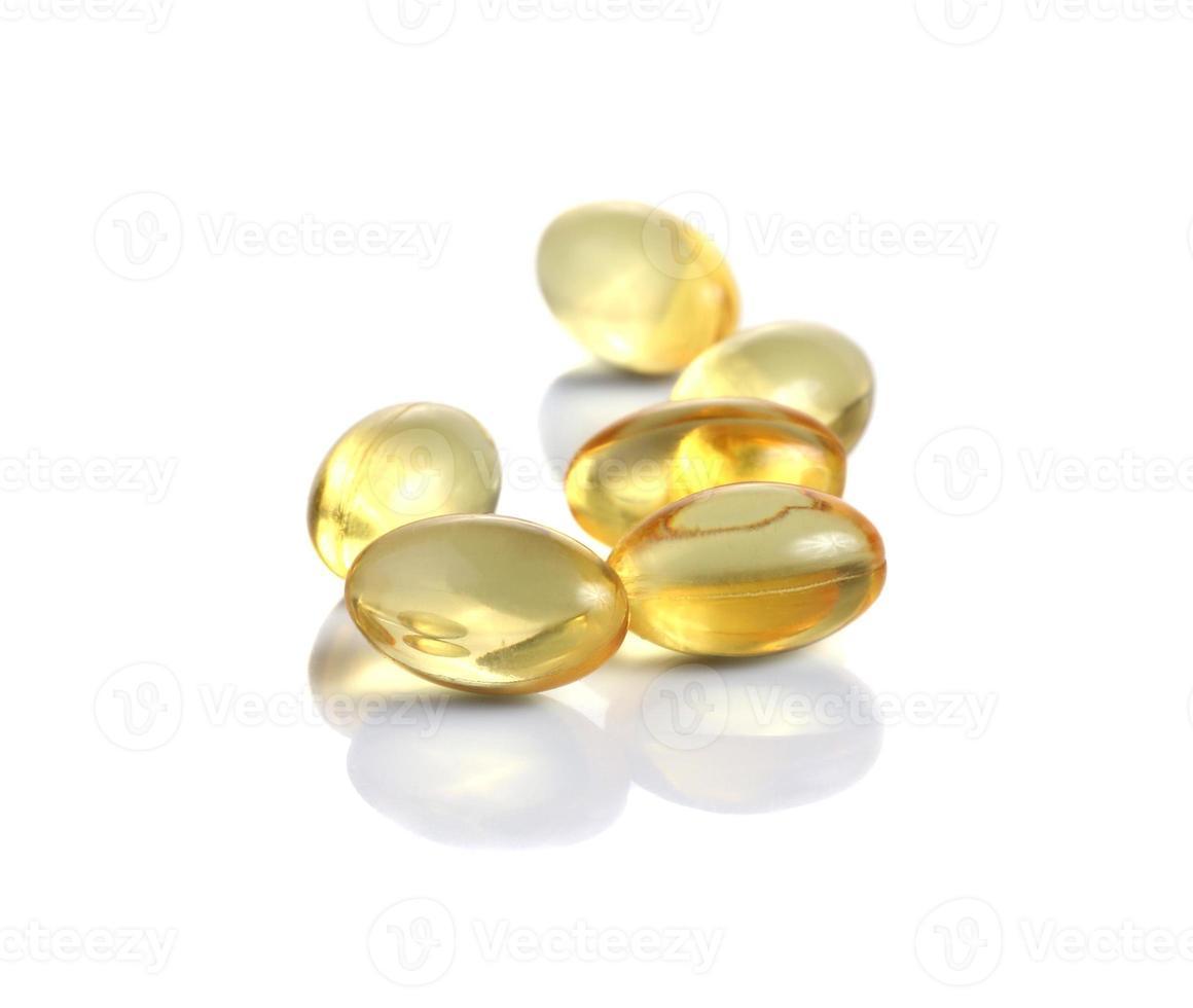 olio di fegato di merluzzo omega 3 capsule di gel foto
