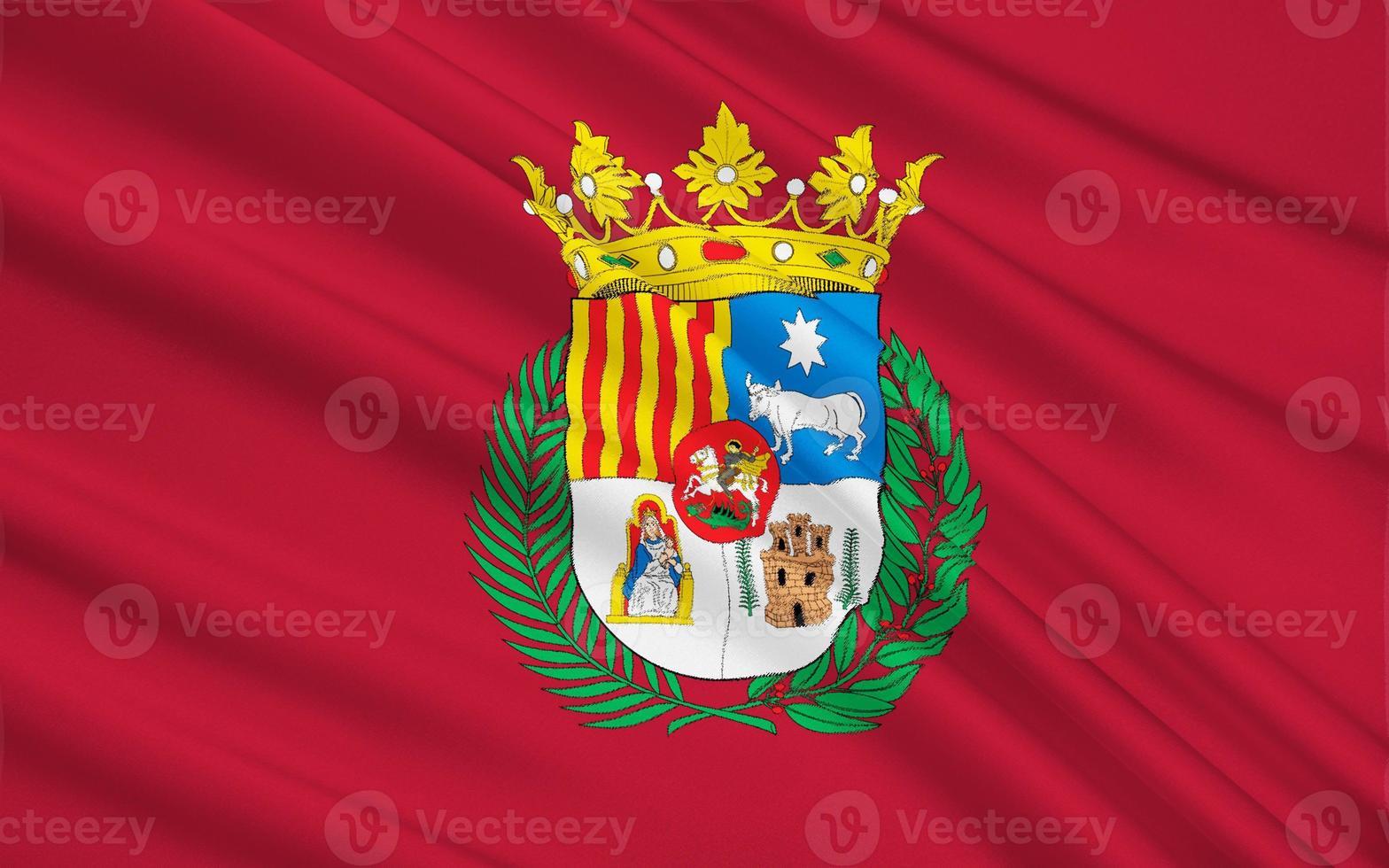 bandiera di teruel - una città in spagna foto