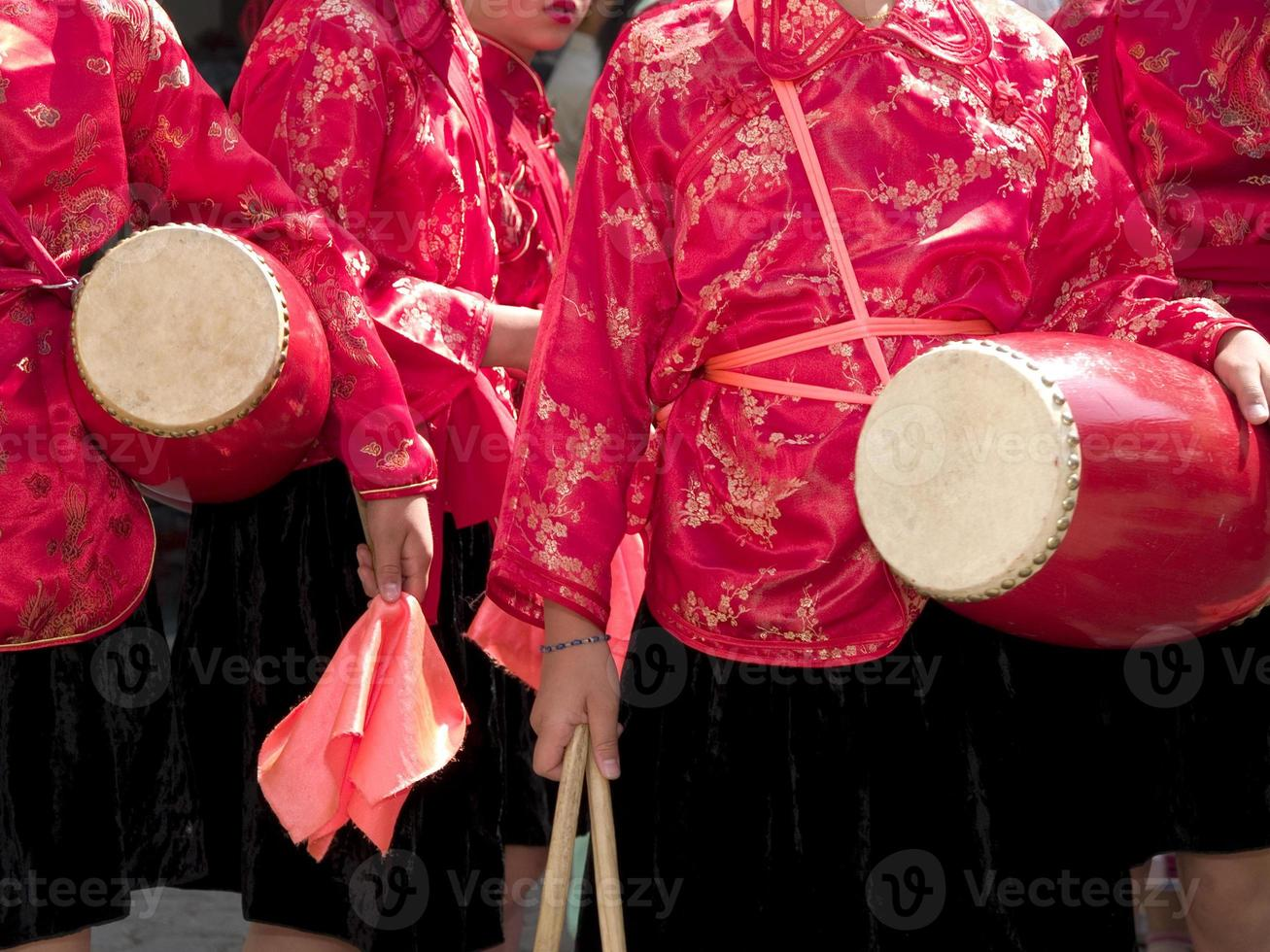 ragazze cinesi del batterista foto