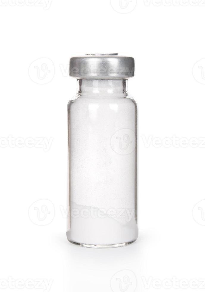 fiala medica isolata su bianco foto
