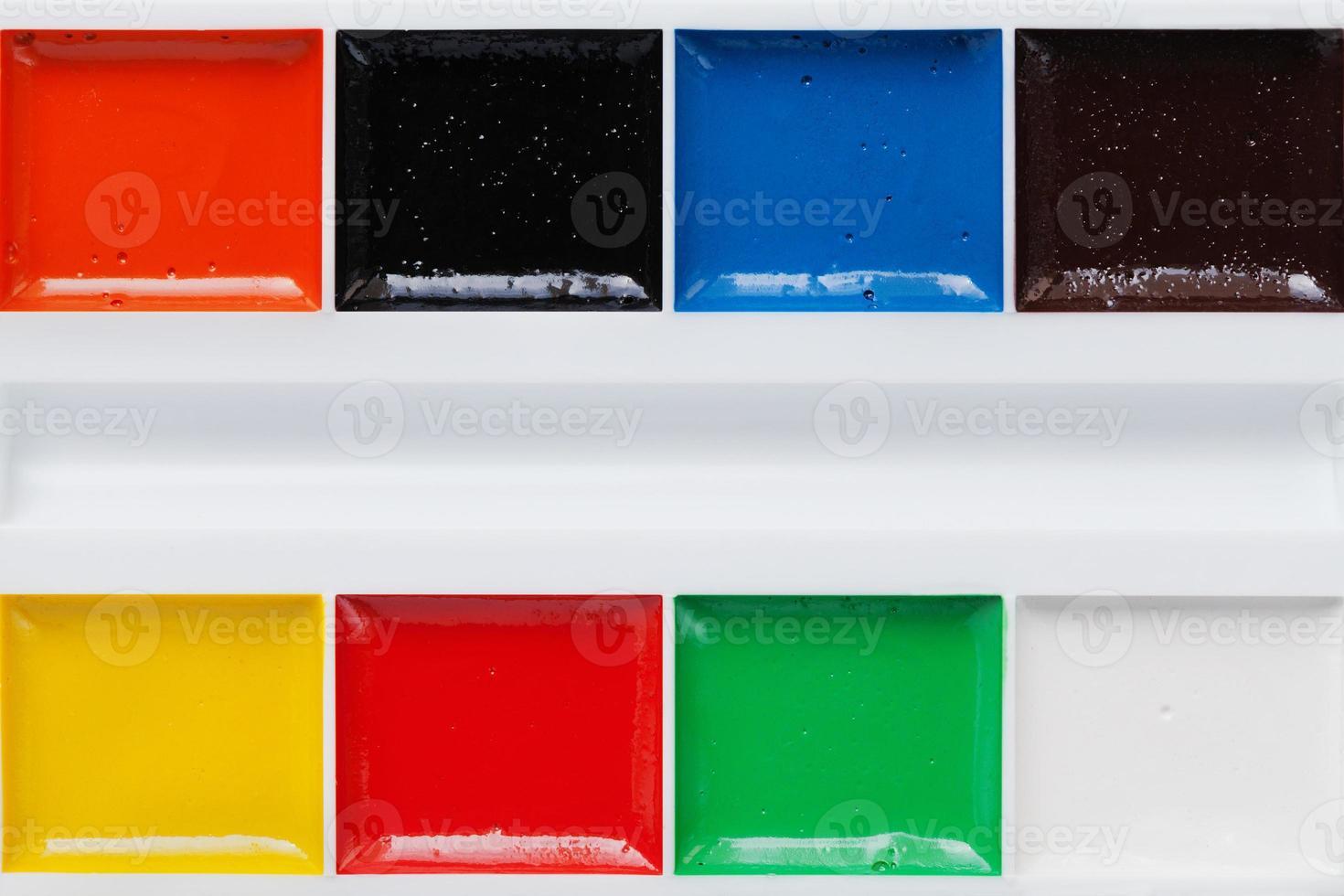 tavolozza di colori ad acquerelli, aquarelle, copia spazio per il testo foto