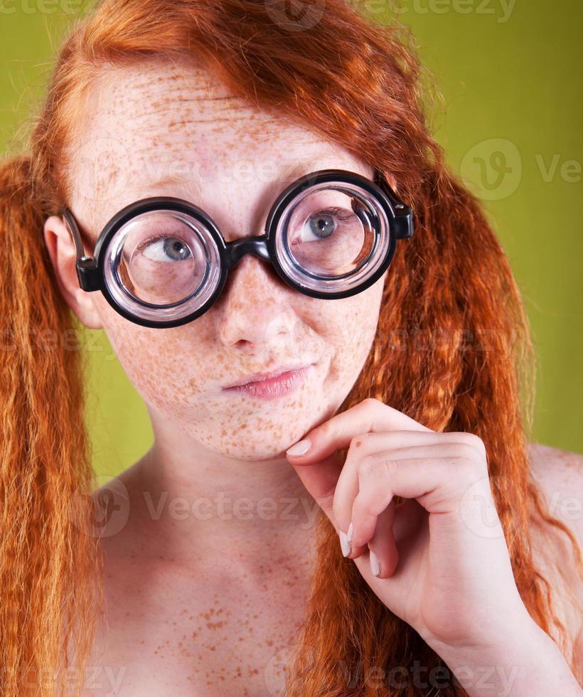 bella ragazza nerd foto