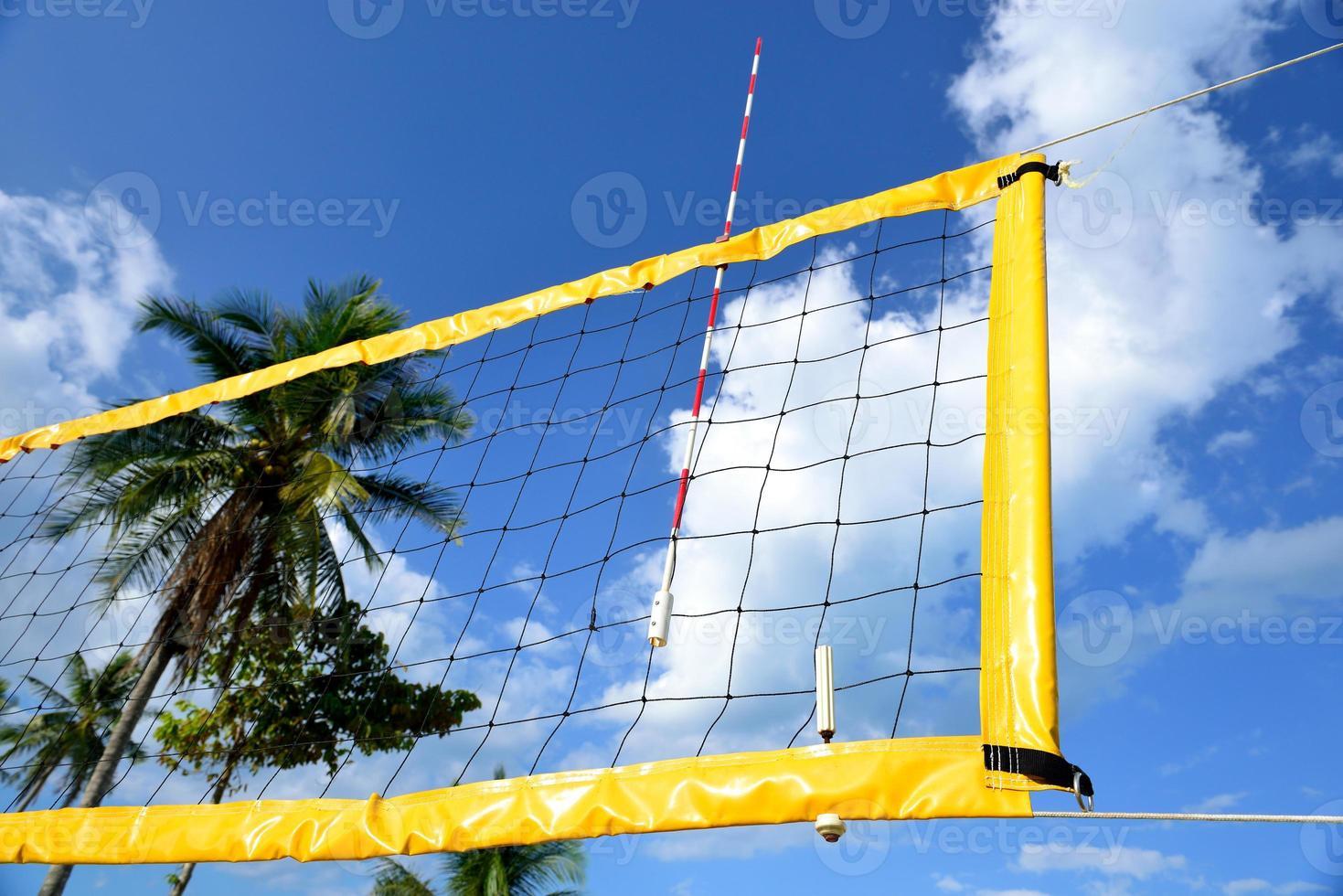 la rete del beach volley. foto