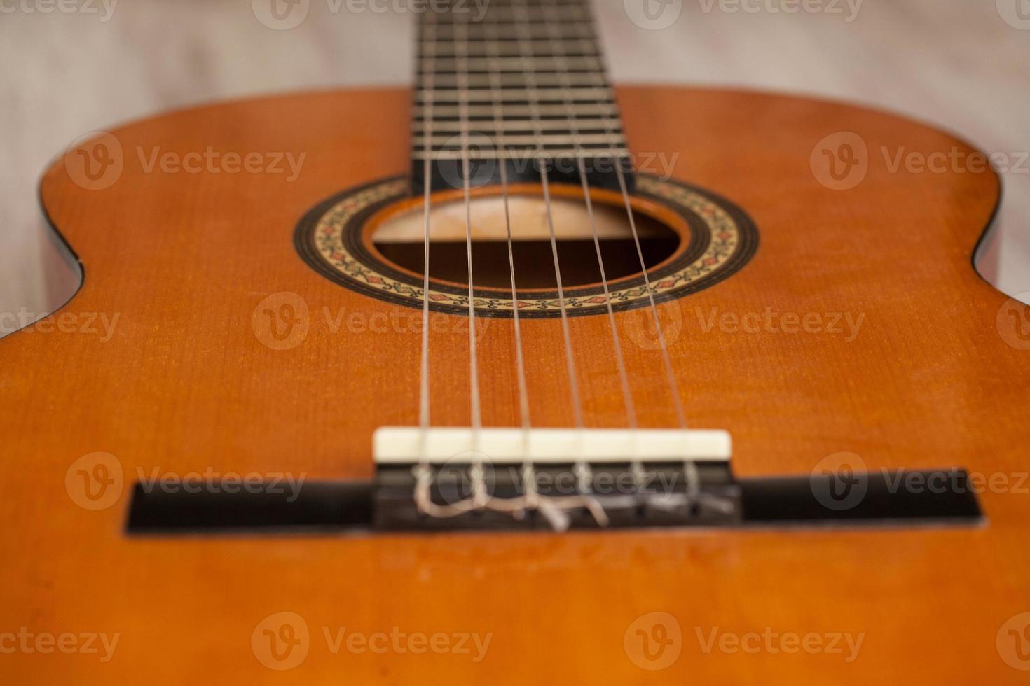 chitarra acustica da vicino foto