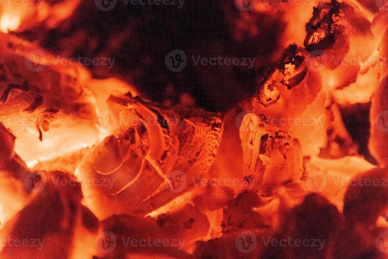 fuoco di legna da vicino foto