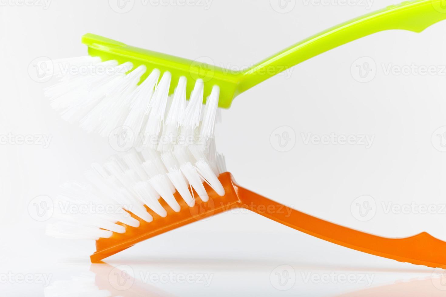 spazzole per piatti, primo piano foto