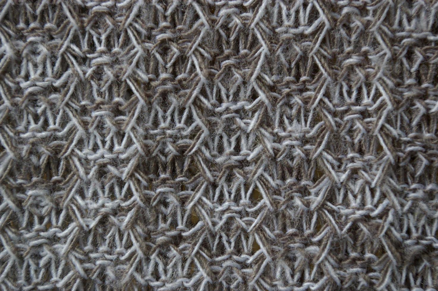 materiale lavorato a maglia da vicino foto