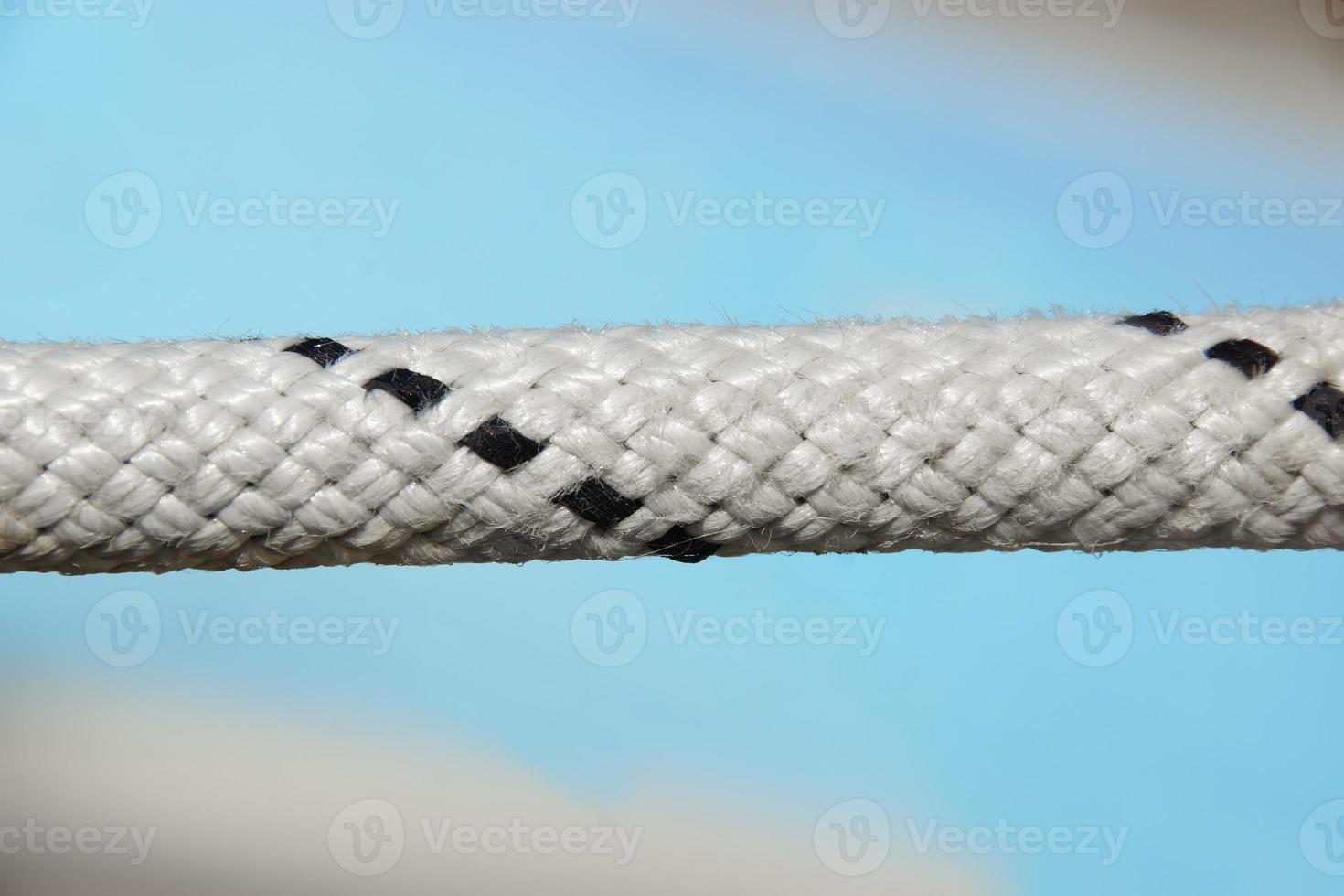 primo piano del cavo di sicurezza della corda foto