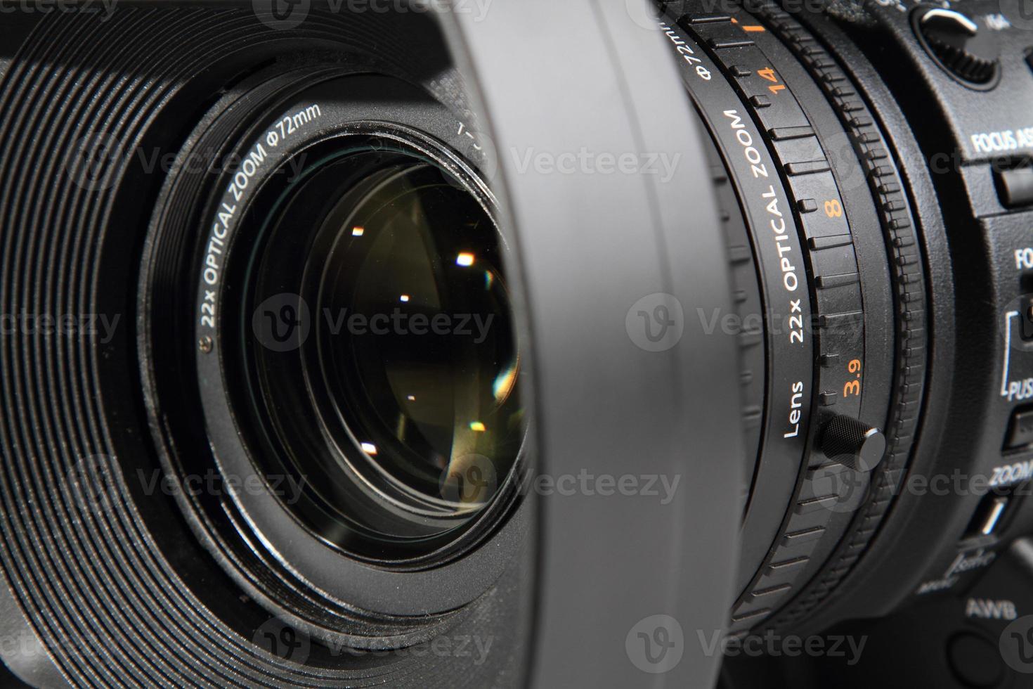 obiettivo della fotocamera da vicino foto