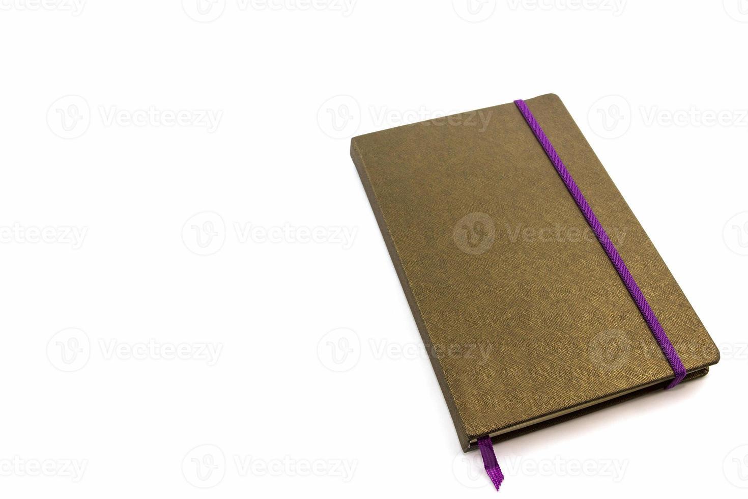 libro del diario marrone. foto