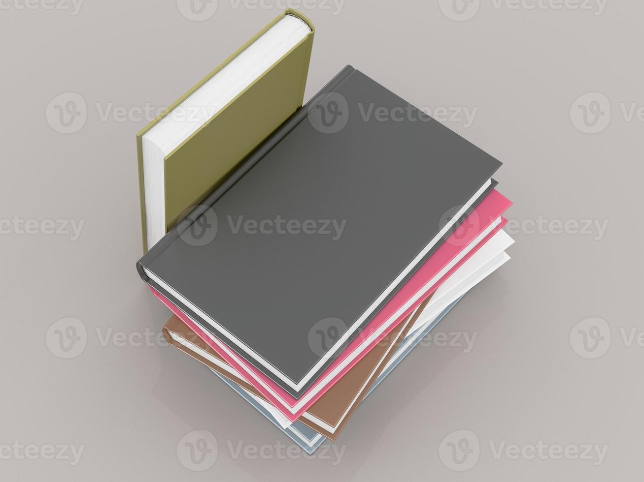 modello vuoto del modello del libro di colore su fondo grigio foto