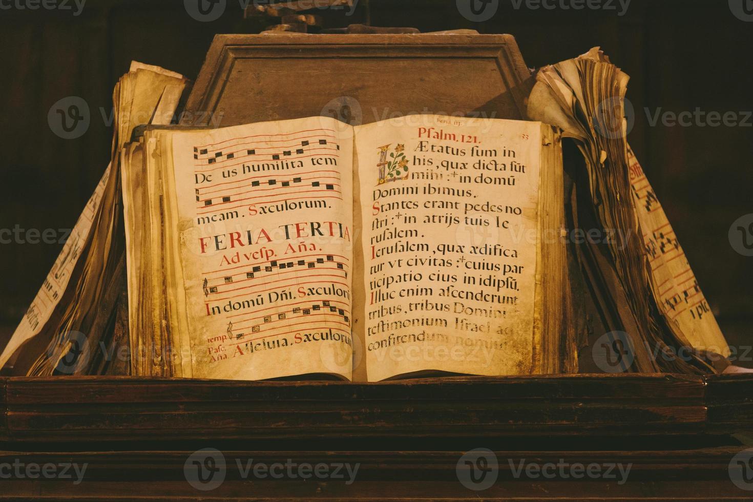 antico libro medievale foto