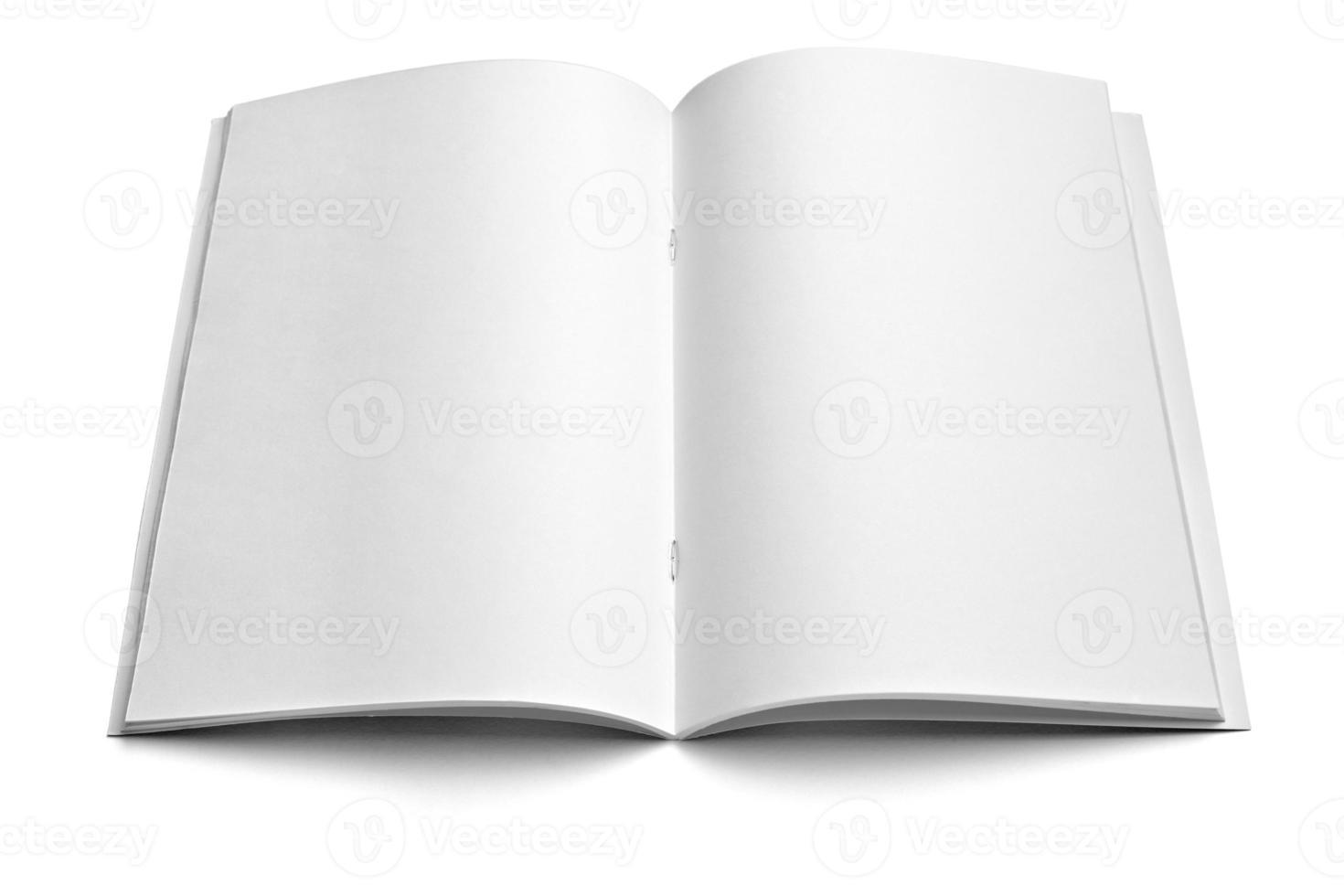 modello di quaderno bianco bianco foto