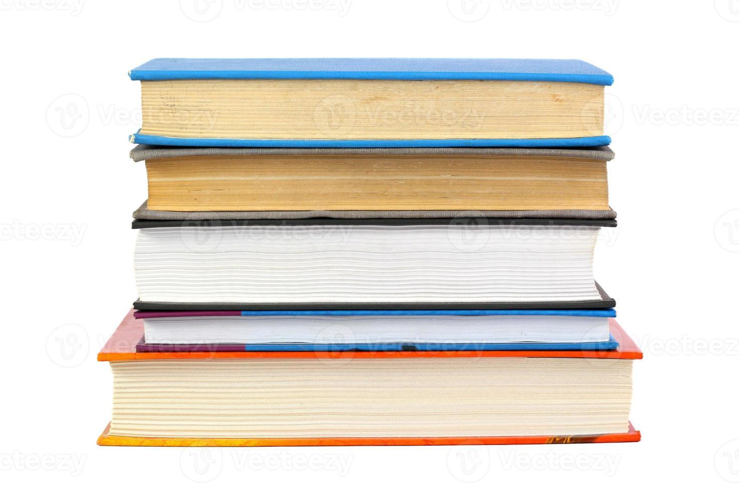 Pila di libri foto