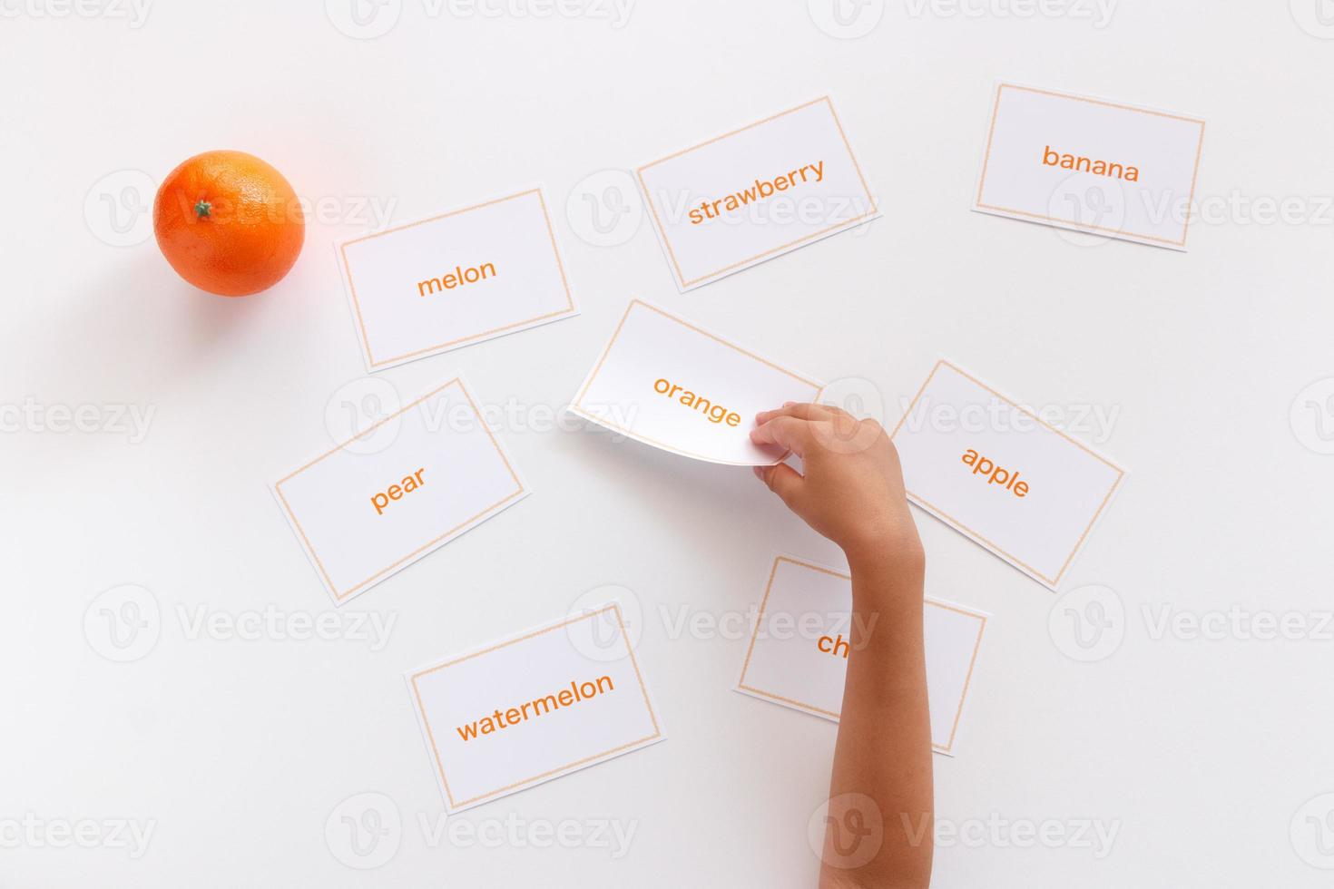 studio della parola inglese foto
