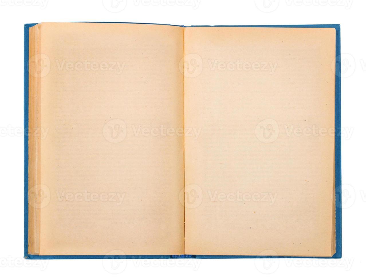copertina del libro aperto vuota isolata on white foto
