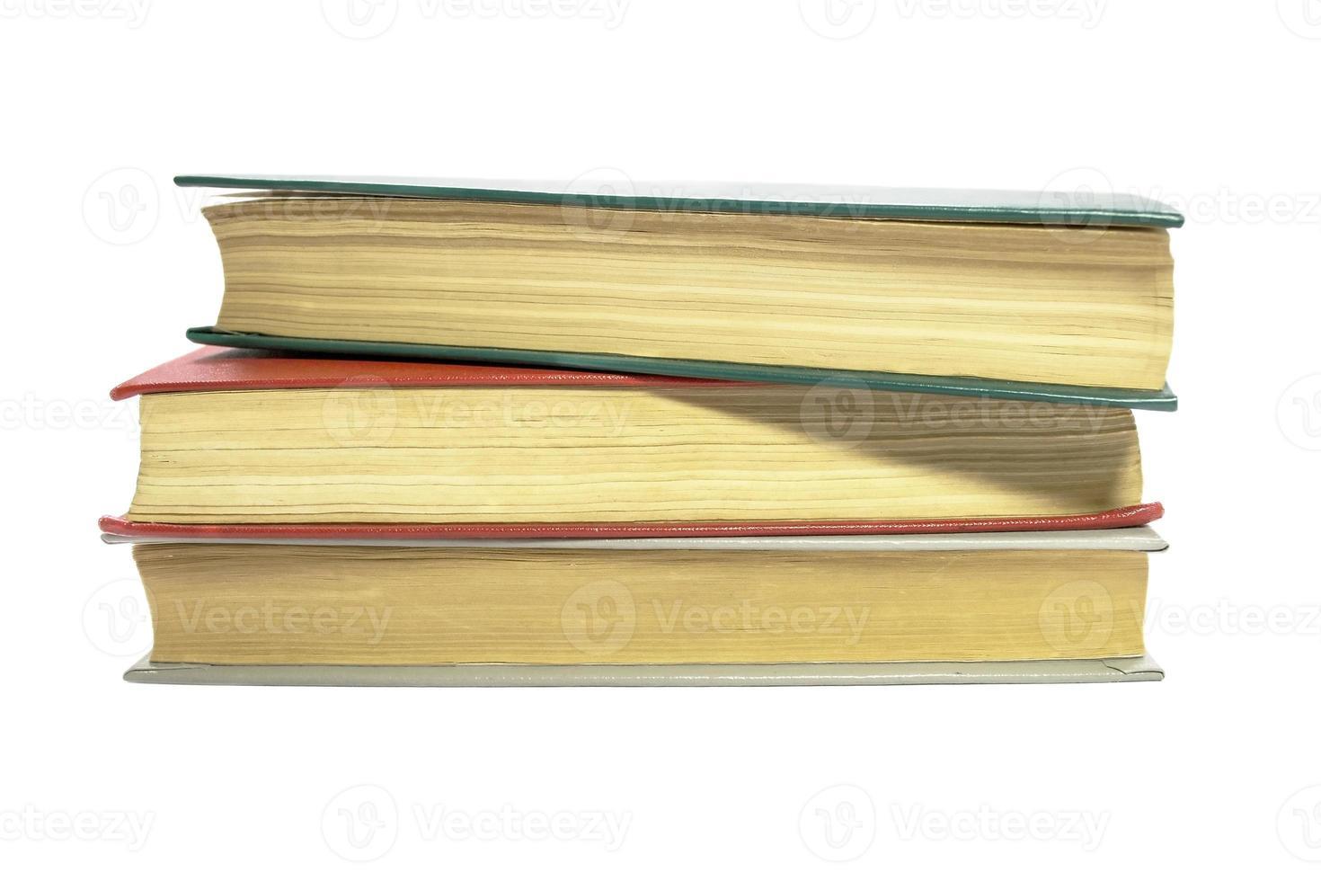 libri su bianco foto