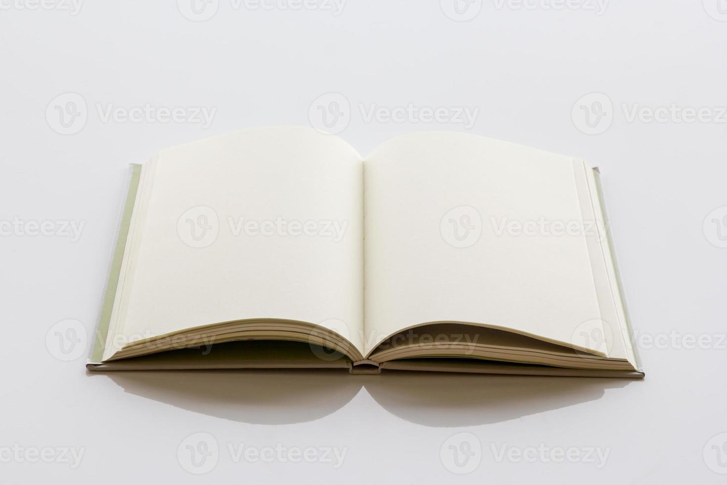 libro con una pagina vuota. foto