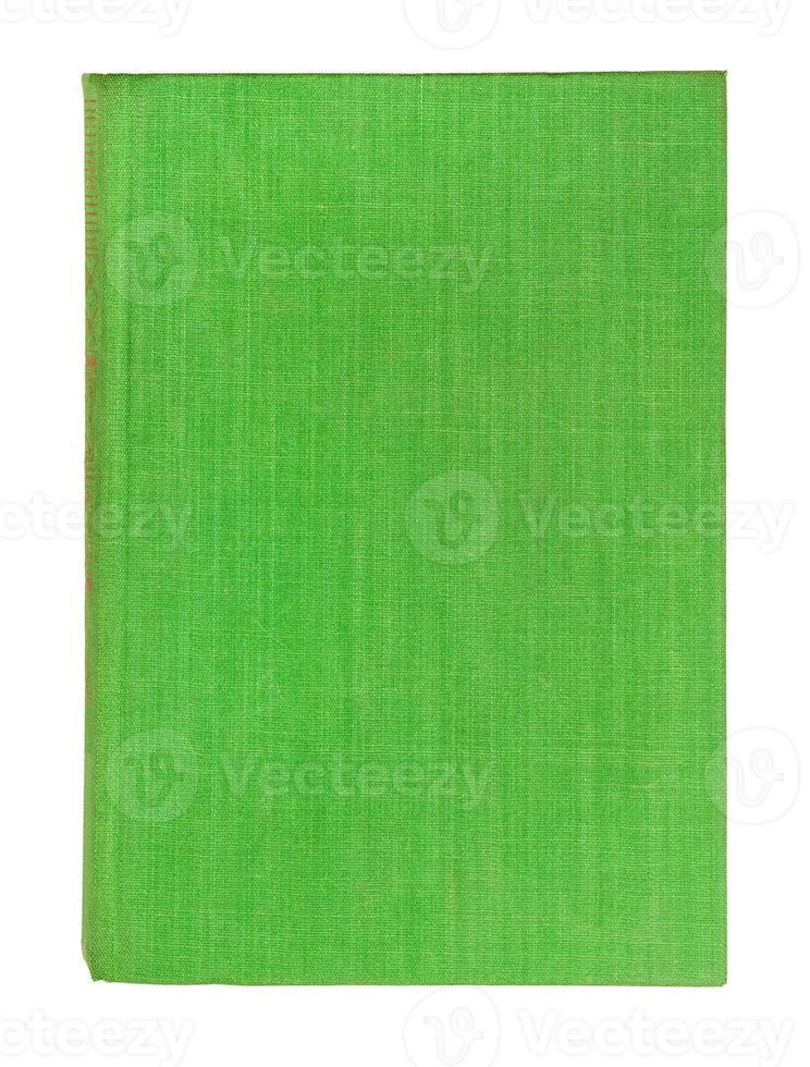verde della copertina di libro dell'annata isolato su bianco foto