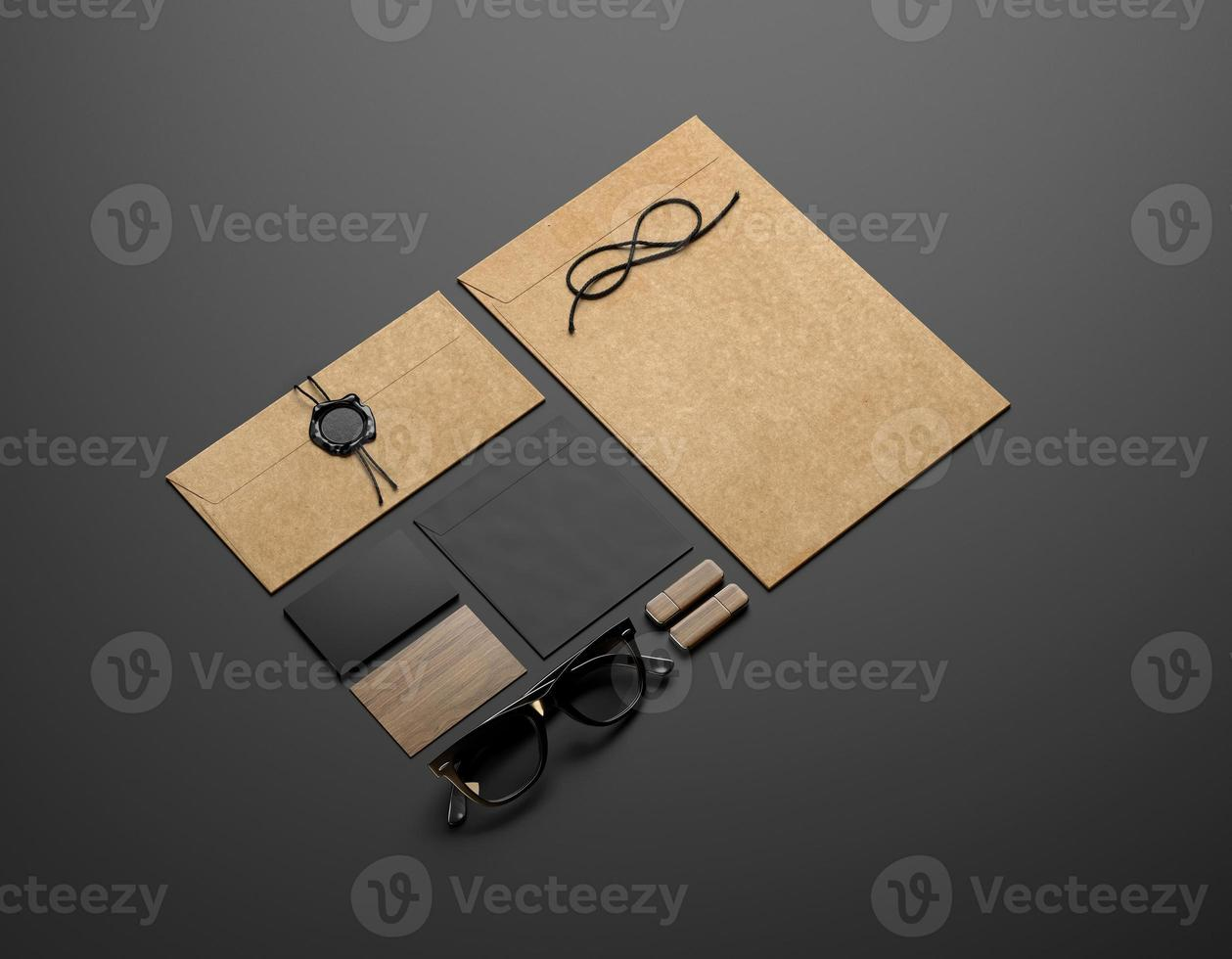 elementi di personalizzazione su sfondo nero foto