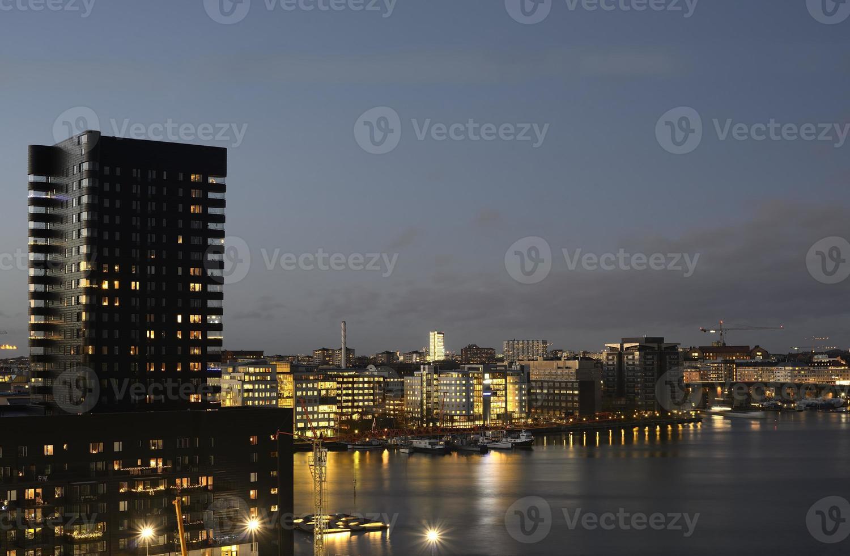 Stoccolma di notte foto