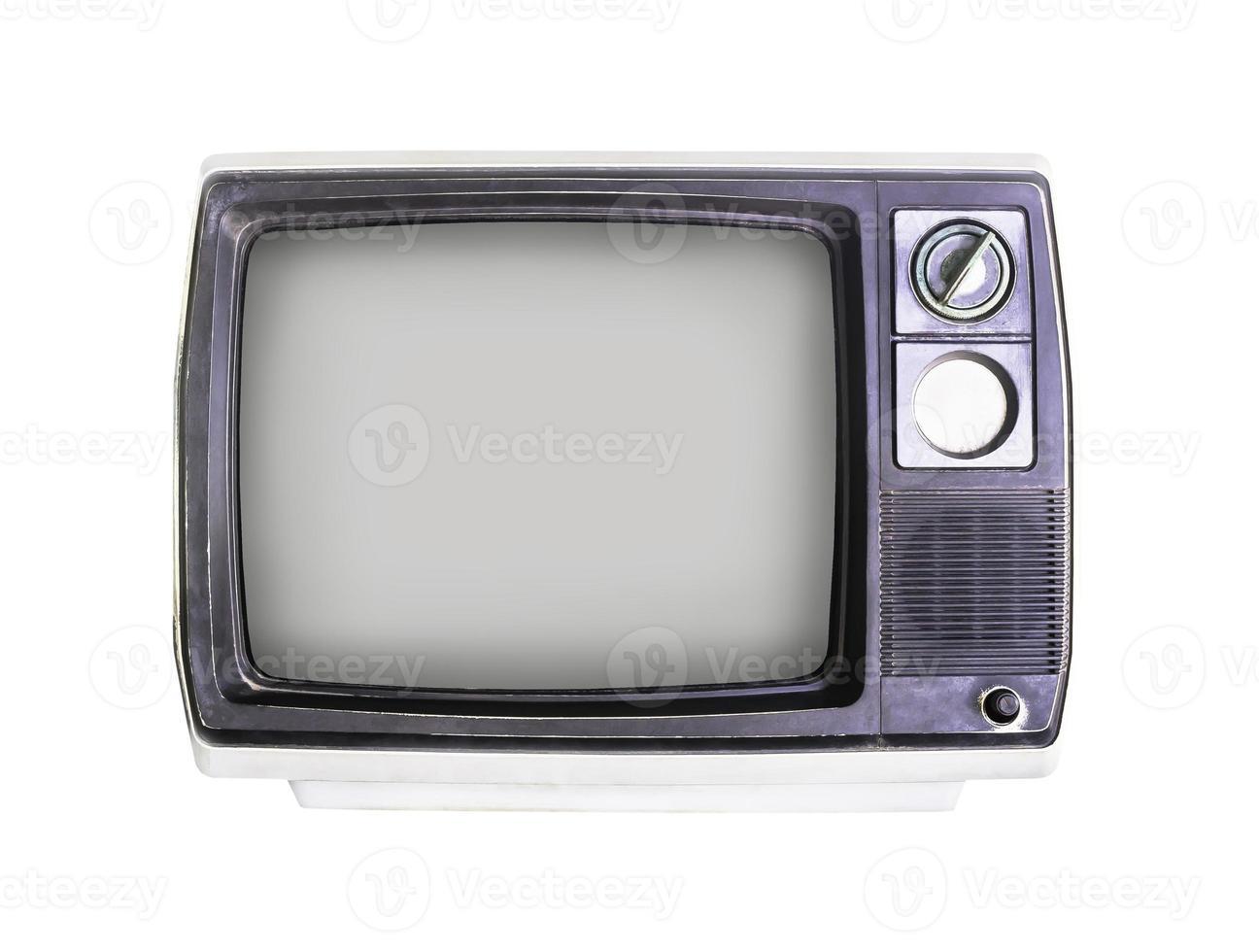 vecchia televisione su bianco foto