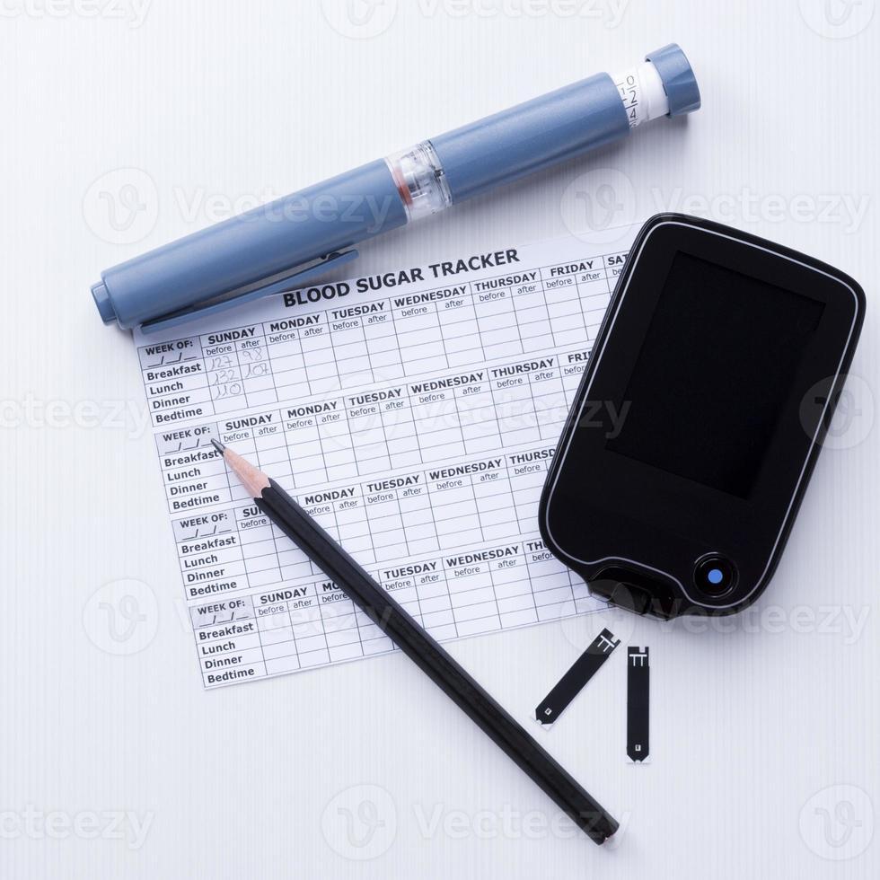 controllo del diabete impostare lo sfondo foto