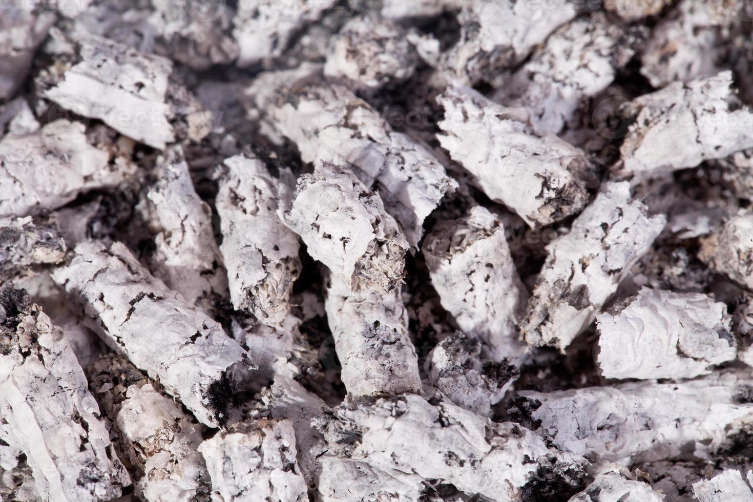sfondo di macro di cenere di sigaretta foto