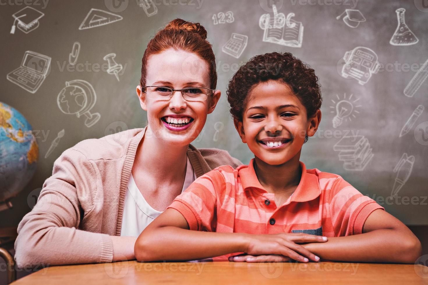 immagine composita di scarabocchi istruzione foto