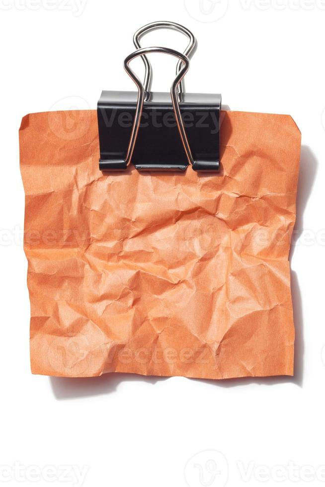 carta stropicciata arancione foto